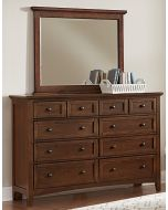 Vaughan Bassett Bonanza Eight Drawer Storage Dresser in Cherry
