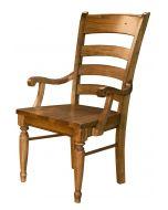 Bennett Ladderback Dining Arm Chair Set of 2