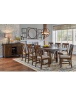Eastwood Gunsmoke Gray 60'' Extendable Trestle Rectangular Dining Table