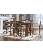 Eastwood Gunsmoke Gray 60'' Extendable Counter Height Rectangular Dining Table