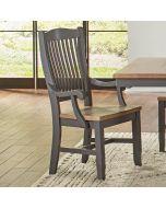 Port Townsend Slatback Dining Arm Side Chair Set of 2