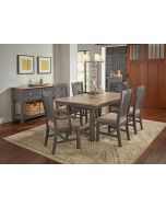 Port Townsend Brushed Nickel 68'' Extendable Trestle Dining Table