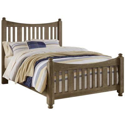 Artisan & Post Maple Road Queen Slat Poster Bed with slat poster Footboard in Weathered Gray