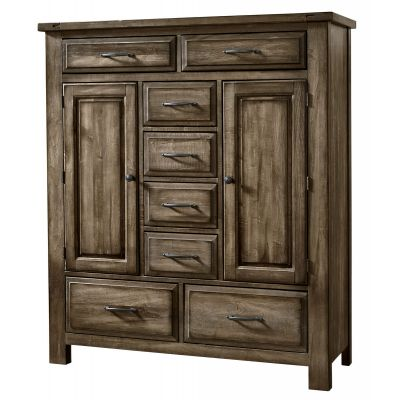 Artisan & Post Maple Road Eight Drawer and 2 Doors Sweater Chest in Maple Syrup