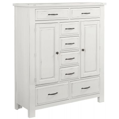 Artisan & Post Maple Road Eight Drawer and 2 Doors Sweater Chest in White