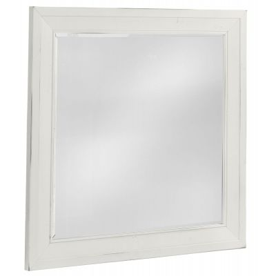 Artisan & Post Maple Road Landscape Mirror with Beveled Glass in White