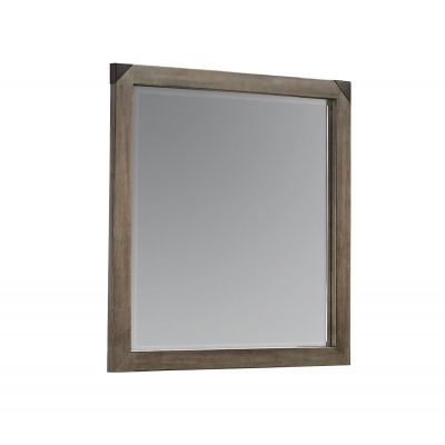Artisan & Post Sedgwick Landscape Mirror with Beveled Glass in Earl Gray