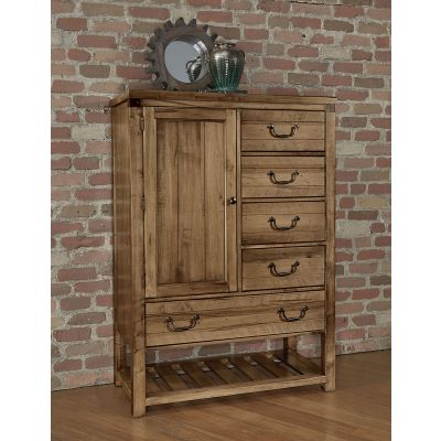 Artisan & Post Sedgwick Five Drawer and 1 door Standing Chest in Natural Maple