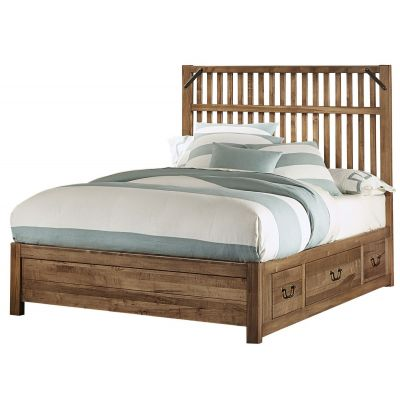 Artisan & Post Sedgwick Elevator Slat Queen Bed with 1 side Storage in Natural Maple