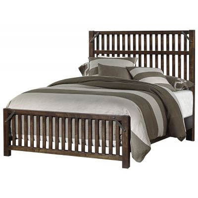 Artisan & Post Sedgwick Elevator Slat Queen Bed in Classic Dark Maple