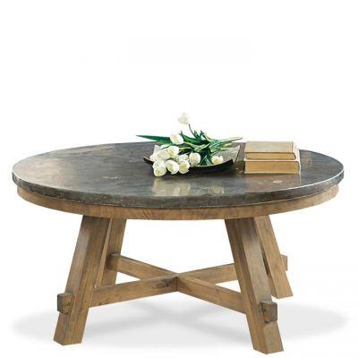 Riverside Weatherford Bluestone Reclaimed Natural Pine Coffee Table