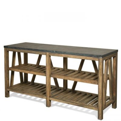 Riverside Weatherford Bluestone Reclaimed Natural Pine Sofa Table