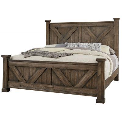 Artisan & Post Cool Rustic Queen X Bed in Mink