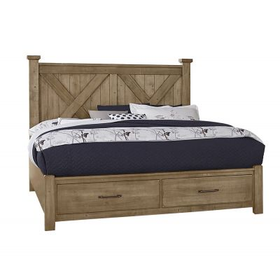 Artisan & Post Cool Rustic X Panel Bed with Storage