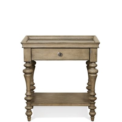 Corinne Marble Top Leg Nightstand Closter