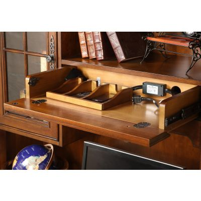 Bristol Court Computer Credenza and Hutch Lyndhurst
