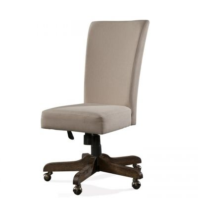 Perspectives Brushed Acacia Upholstered Back Desk Chair