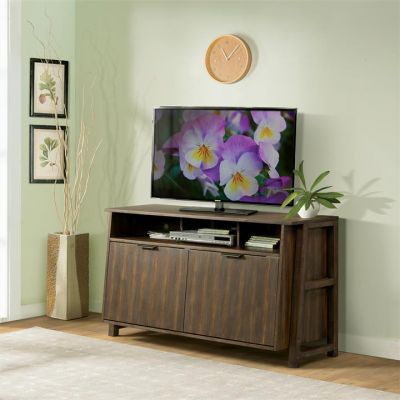 Perspectives Brushed Acacia Entertainment Console