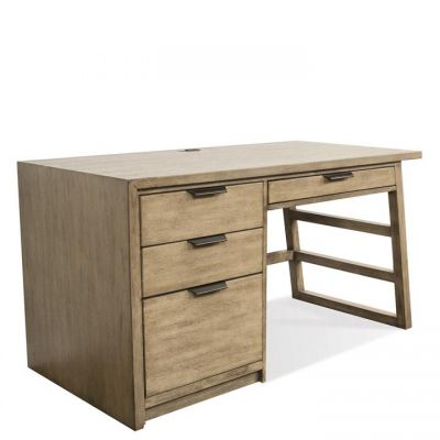 Perspectives Sun-Drenched Acacia Single Pedestal Desk