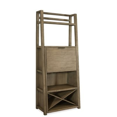 Perspectives Bookshelf with Bar cabinet Leonia