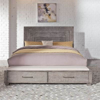 Liberty Furniture Modern Farmhouse Queen Storage Bed