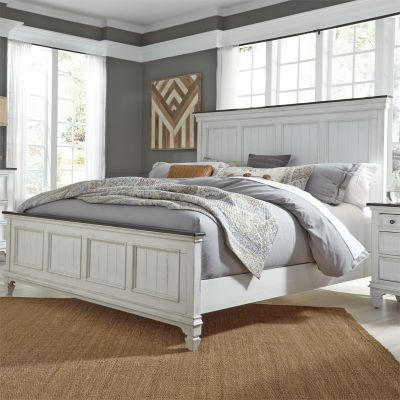 Liberty Allyson Park Wired Brushed White Panel Bed