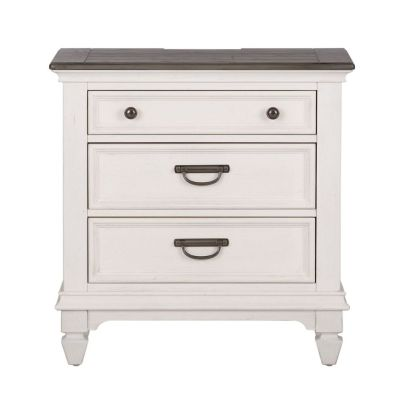 Liberty Allyson Park Wired Brushed White Two Drawer Nightstand