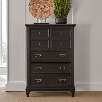 Allyson Park Five Drawer Chest in brown
