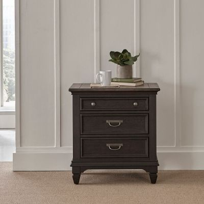 Liberty Allyson Park Night Stand with Charging Station in brown