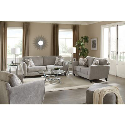Jackson Alyssa Living Room Set in Pebble