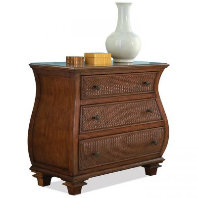Riverside Furniture Windward Bay Warm Rum Bombe Chest