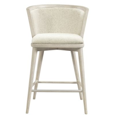 Lilly Upholstered Windsor Counter Stool Set of 2 Waldwick