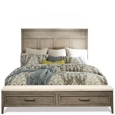 Riverside Furniture Vogue Gray Wash Queen Panel Storage Bed