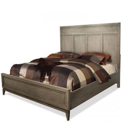Riverside Furniture Vogue Gray Wash Panel Bed