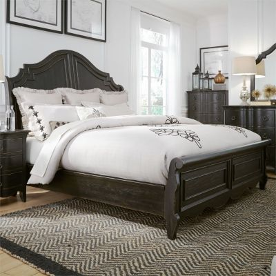 Liberty Chesapeake Wire Brushed Antique Black Sleigh Bed
