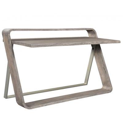 Waverly Sandblasted Gray Writing Desk