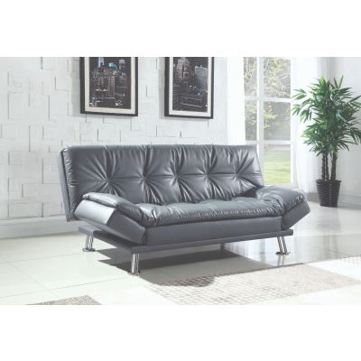 Dilleston Tufted Back Upholstered Sofa Bed Grey Glen Rock
