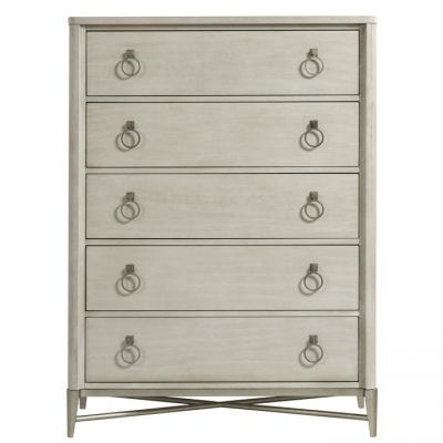 Riverside Maisie Five Drawer Chest in Champagne