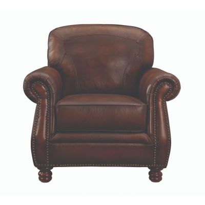 Montbrook Rolled Arm Chair Brown Oakland