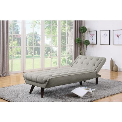 Natalia Convertible Chaise Bed Dove Grey Rutherford