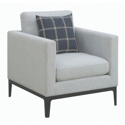 Asherton Cushioned Back Arm Chair Light Grey Washington Township
