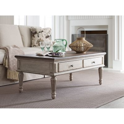 American Drew Southbury Light Brown Rectangular Cocktail Table