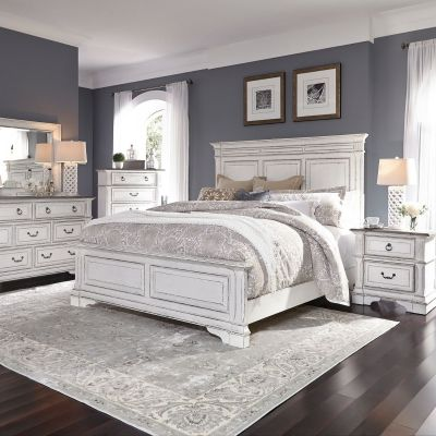 Liberty Furniture Abbey Park Antique White Panel Bedroom Set