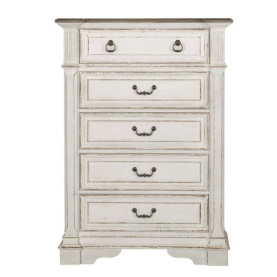 Liberty Abbey Park Antique white Five Drawer Chest