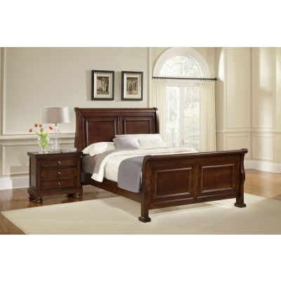 Vaughan Bassett Reflections Queen Sleigh Bed in Dark Cherry