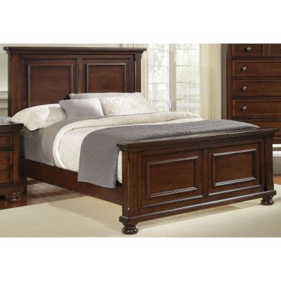 Vaughan Bassett Reflections Queen Mansion Bed in Dark Cherry