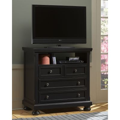 Reflection Four Drawer Media Chest in Black