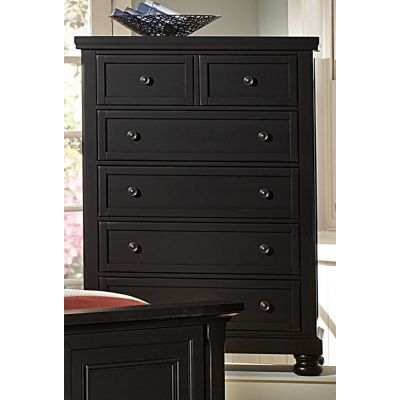 Reflection Five Drawer Storage Chest in Black