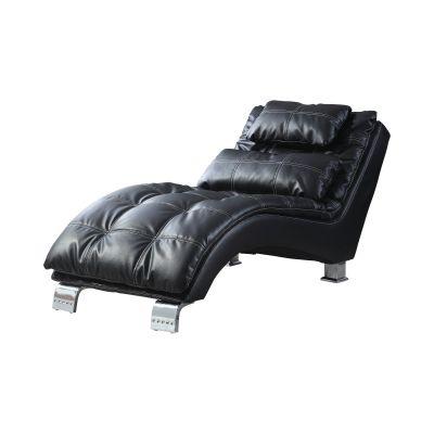Dilleston Upholstered Chaise Black Hackensack