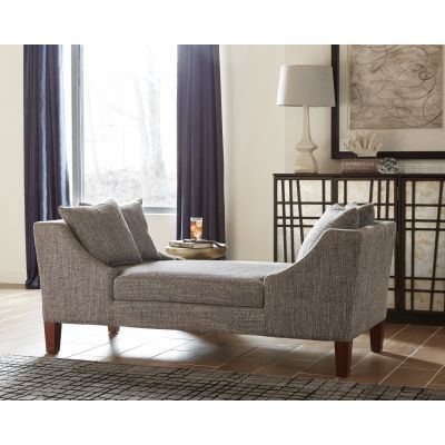 Woven Upholstered Bench Grey New Milford